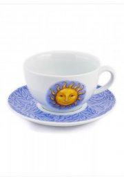 Porcelánová šálka na čaj Slnko