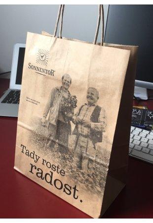 Papierová taška Sonnentor hnedá, malá