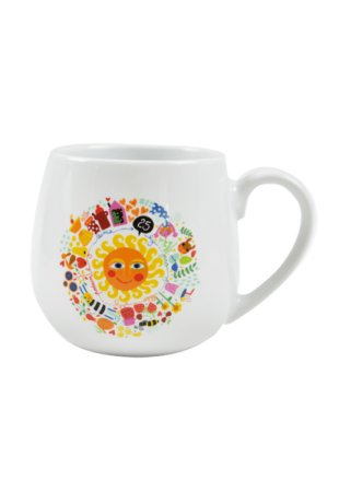 Porcelánová šálka na čaj Tady roste radost