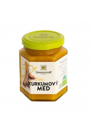 Zlatý kurkumový med, BIO 230 g